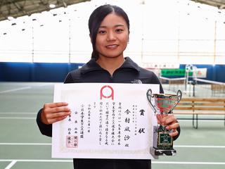 女子シングルス準優勝 今村凪沙(鹿屋体大3年)