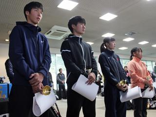 男女シングルス3位表彰式