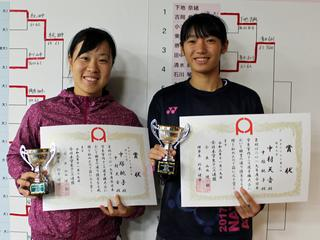 女子ダブルス3位 中塚桃子/中村天音(関大3年/1年)